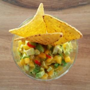 Avocado-Mango Salat