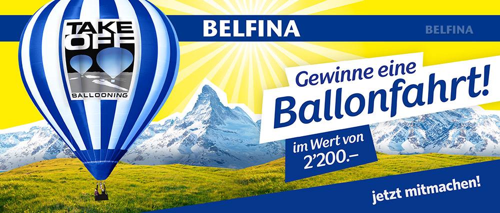 Winterpromo 2018 Belfina Ballonfahrt