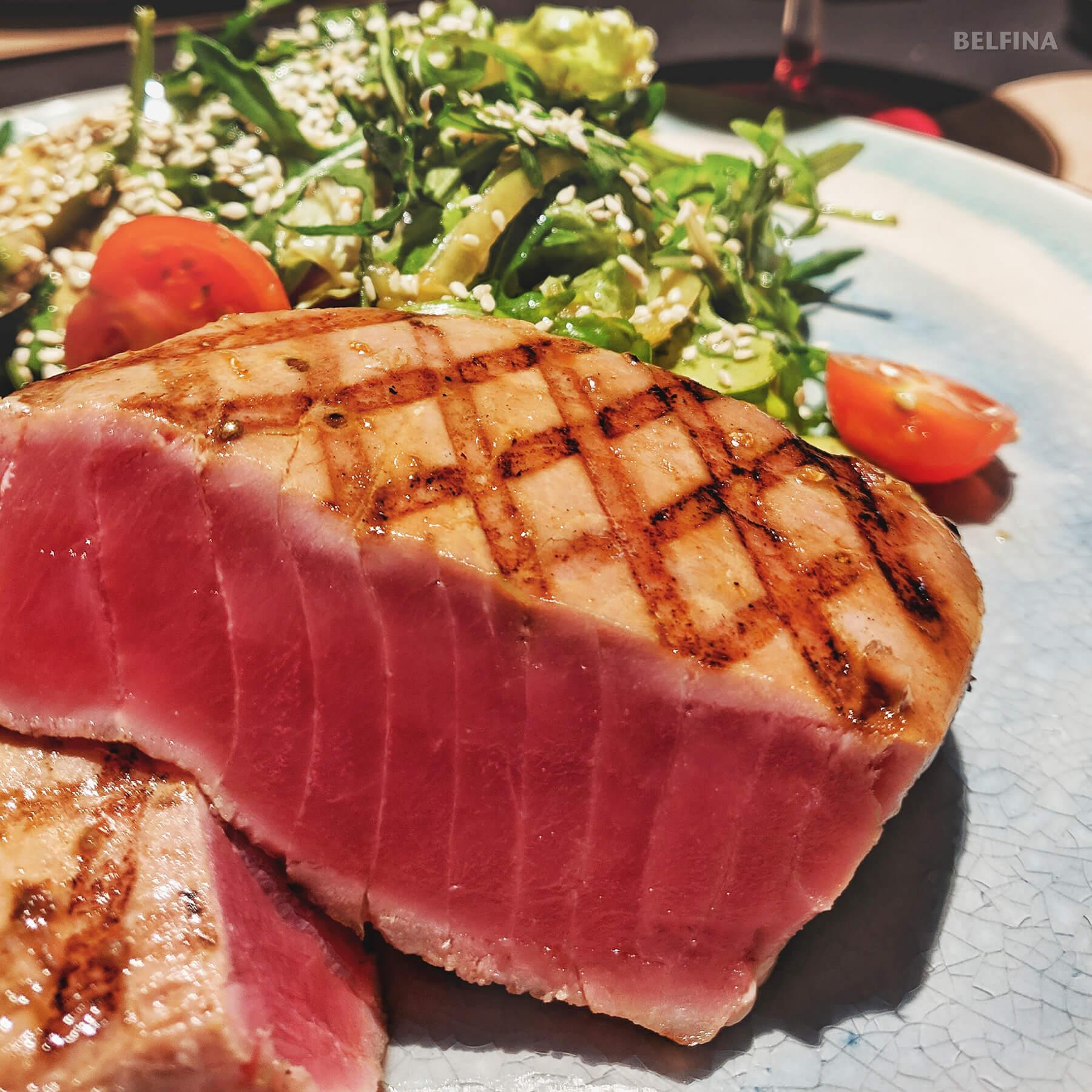 Thunfisch mit Meerrettichschaum